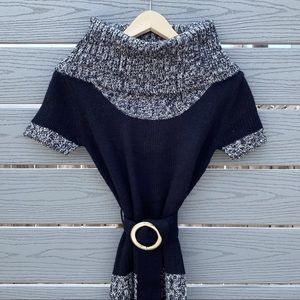 Black and Gray Sweater Tunic